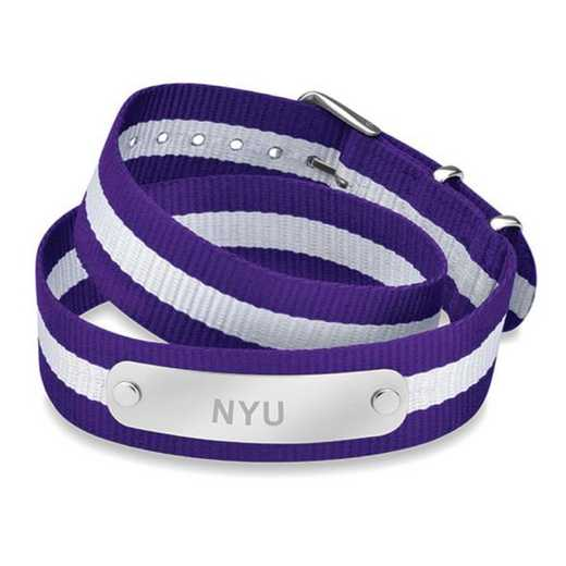615789037927: NYU (Size-Large) Double Wrap NATO ID Bracelet