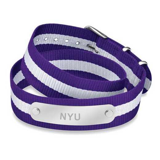 615789095965: NYU (Size-Medium) Double Wrap NATO ID Bracelet