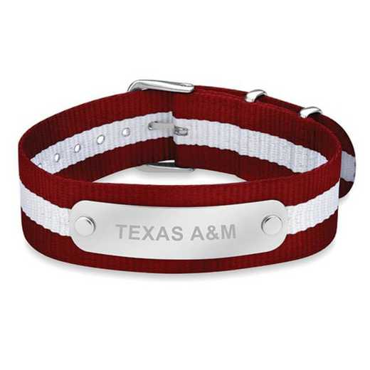 615789496892: Texas A&M (Size-Large) NATO ID Bracelet