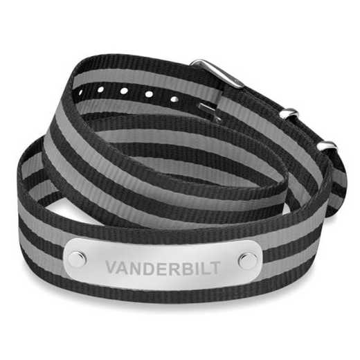 615789862925: Vanderbilt (Size-Large) Double Wrap NATO ID Bracelet