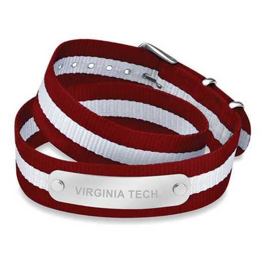 615789553878: Virginia Tech (Size-Medium) Double Wrap NATO ID Bracelet