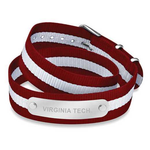 615789792734: Virginia Tech (Size-Large) Double Wrap NATO ID Bracelet