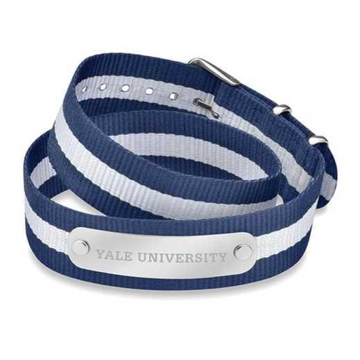 615789492313: Yale (Size-Large) Double Wrap NATO ID Bracelet