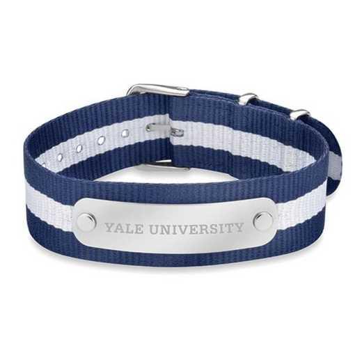 615789157137: Yale (Size-Large) NATO ID Bracelet