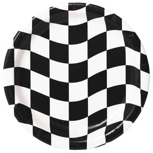 DTC419944PLT: CC Black and White Check Dessert Plates - 24 Count
