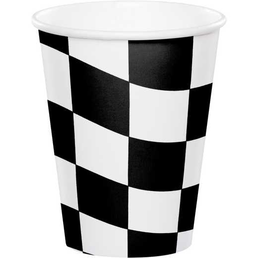 DTC373344CUP: CC Black and White Check Cups - 24 Count