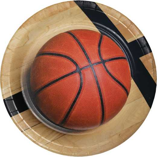 DTC427964DPLT: CC Basketball Paper Plates - 24 Count