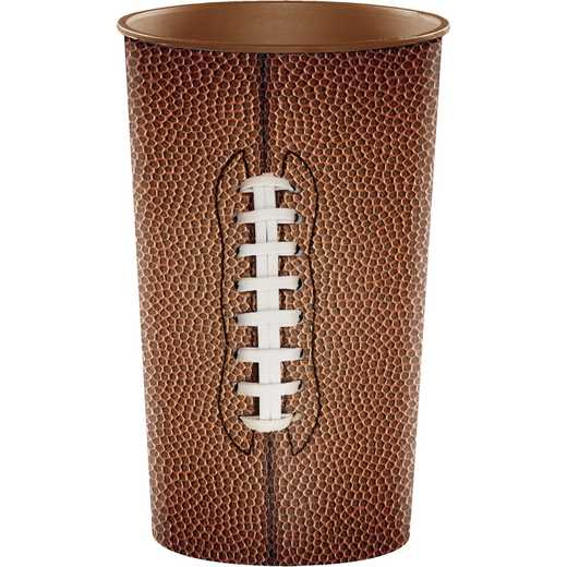 DTC102249TUMB: CC Football 22 oz Plastic Cups - 8  Count