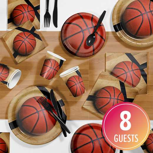 DTC7964C2A: CC Basketball Party Supplies Kit 8ct