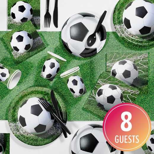 DTC7966C2A: CC Soccer Party Supplies Kit 8ct