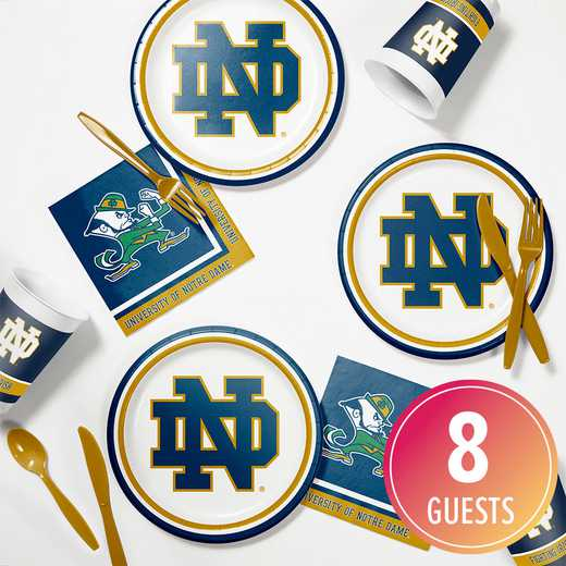 DTC4842C2E: CC University of Notre Dame Tailgating Kit 8ct