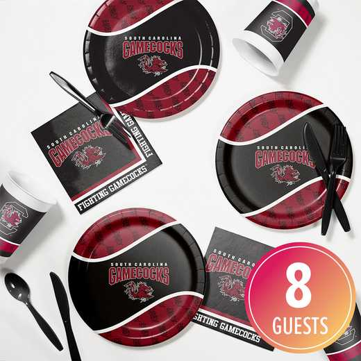 DTC4890C2B: CC University of South Carolina Tailgating Kit 8ct