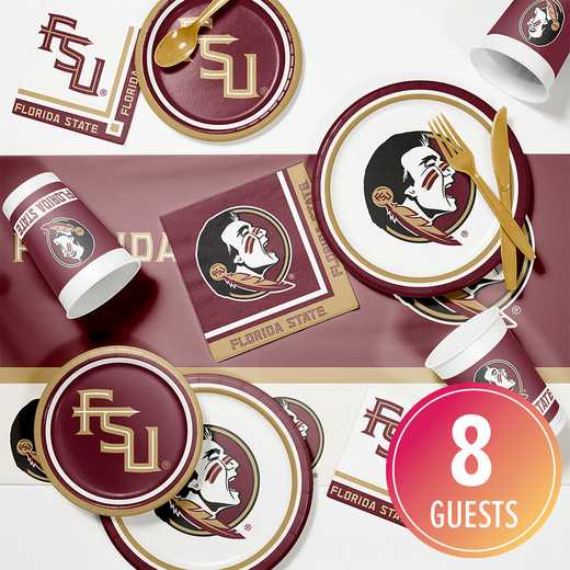 DTC4833C2A: CC Florida State Game Day Party Supplies Kit 8ct