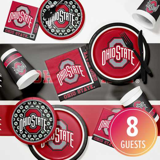 DTC4843C2A: CC Ohio State University Game Day Party Supplies Kit 8ct