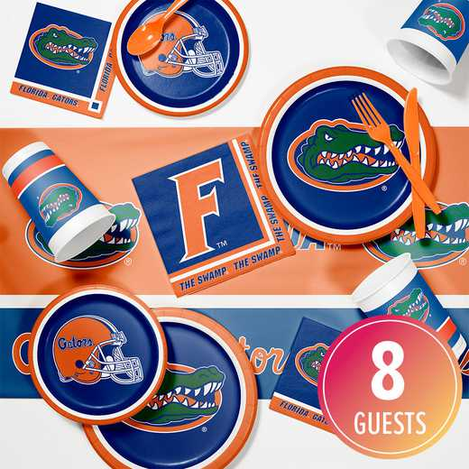 DTC4698C2A: CC University of Florida Game Day Party Supplies Kit 8ct