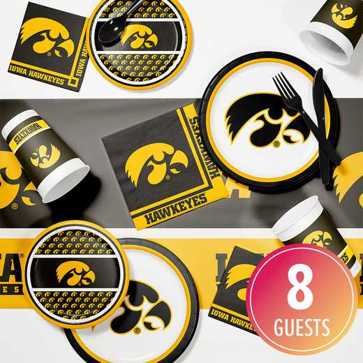 DTC4700C2A: CC University of Iowa Game Day Party Supplies Kit 8ct