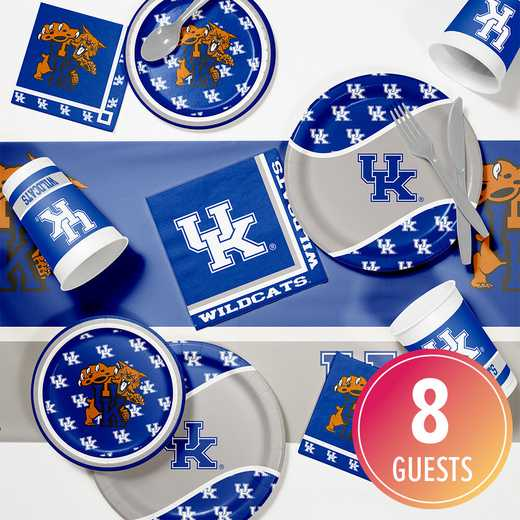 DTC4768C2A: CC University of Kentucky Game Day Party Supplies Kit 8ct