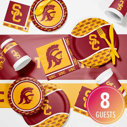 DTC4857C2A: CC USC Game Day Party Supplies Kit 8ct