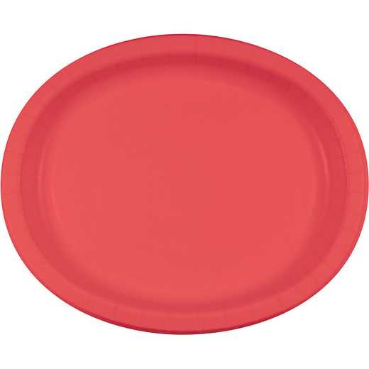 DTC433146OVAL: CC Coral Oval Plates - 24 Count