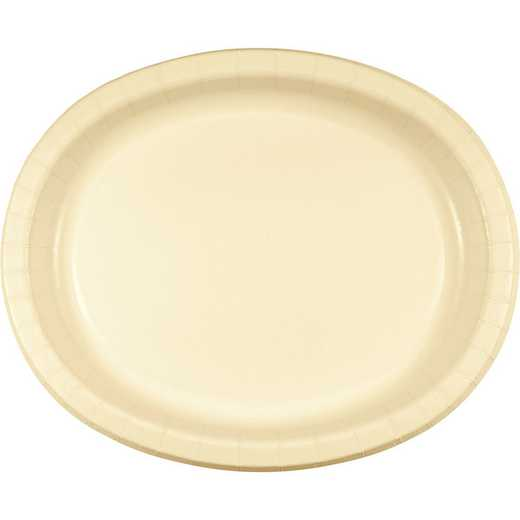 DTC433264OVAL: CC Ivory Oval Plates - 24 Count