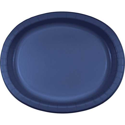 DTC433278OVAL: CC Navy Blue Oval Plates - 24 Count