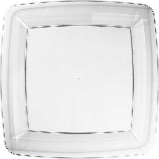 DTC23041891BPLT: CC Clear Banquet Plates Square - 24 Count