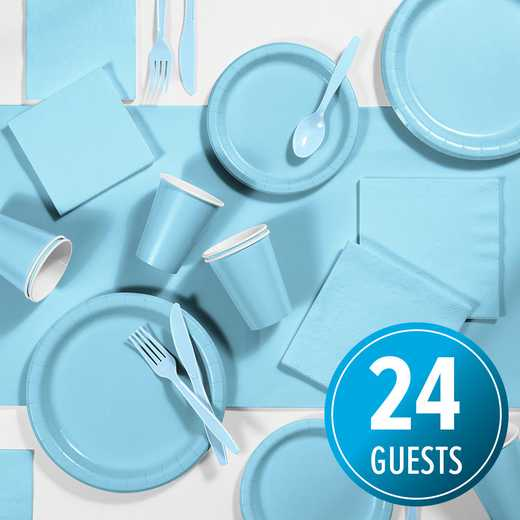 DTC3279X2A: CC Pastel Blue Party Supplies Kit, 24 ct