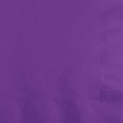 318930: CC Amethyst Purple Beverage Napkins - 50 Count