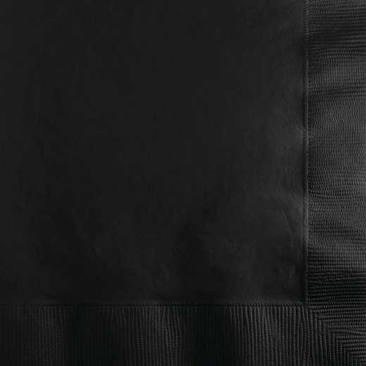 139194154: CC Black Beverage Napkins - 50 Count