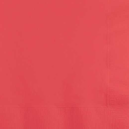 803146B: CC Coral Beverage Napkins - 50 Count