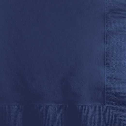 801137B: CC Navy Blue Beverage Napkins - 50 Count