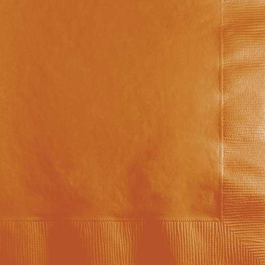 323381: CC Pumpkin Spice Orange Beverage Napkins - 50 Count
