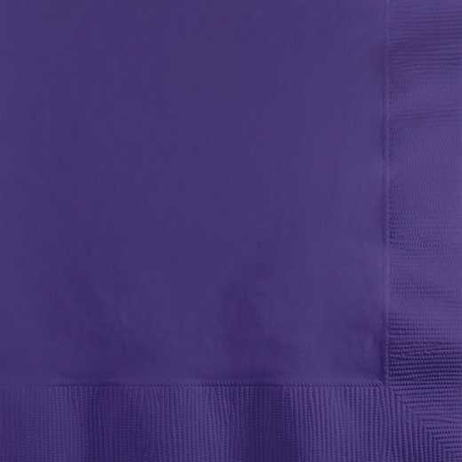 139371154: CC Purple Beverage Napkins - 50 Count