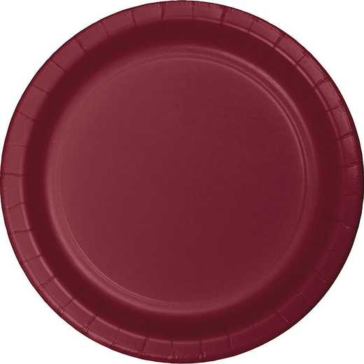793122B: CC Burgundy Red Dessert Plates - 24 Count