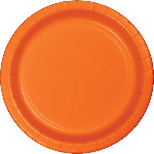 79191B: CC Sunkissed Orange Dessert Plates - 24 Count