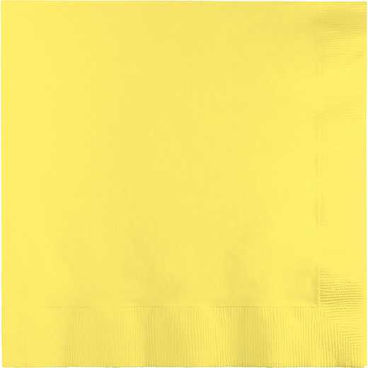 139180135: CC Mimosa Yellow Lg Napkins - 50 Count