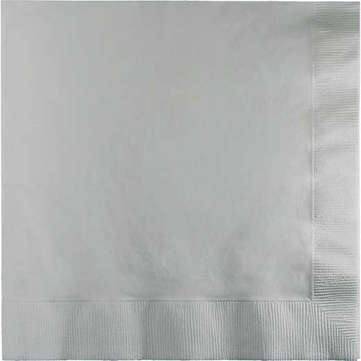 663281B: CC Shimmering Silver Lg Napkins - 50 Count