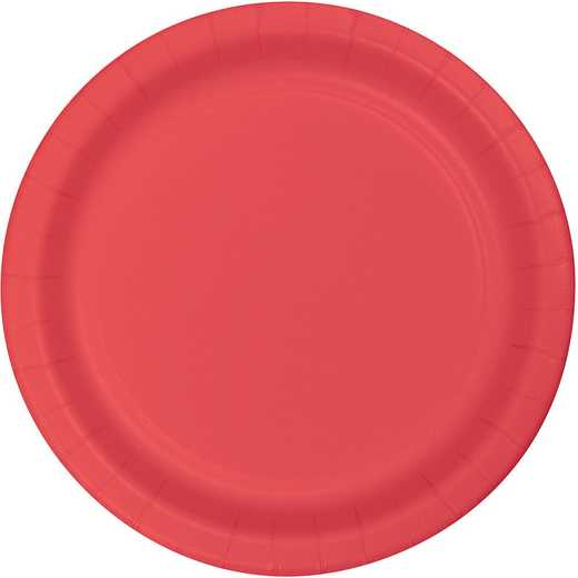 473146B: CC Coral Paper Plates - 24 Count