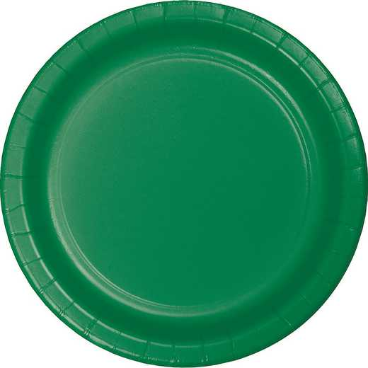 47112B: CC Emerald Green Paper Plates - 24 Count