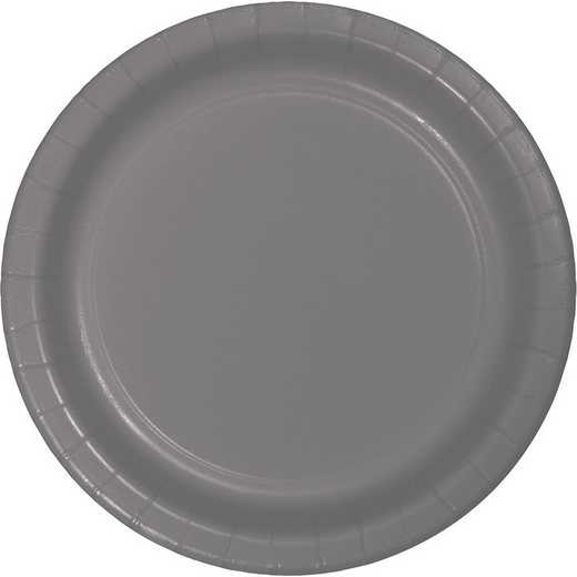 339639: CC Glamour Gray Paper Plates - 24 Count