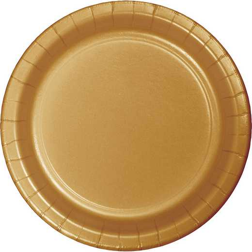 47103B: CC Glittering Gold Paper Plates - 24 Count