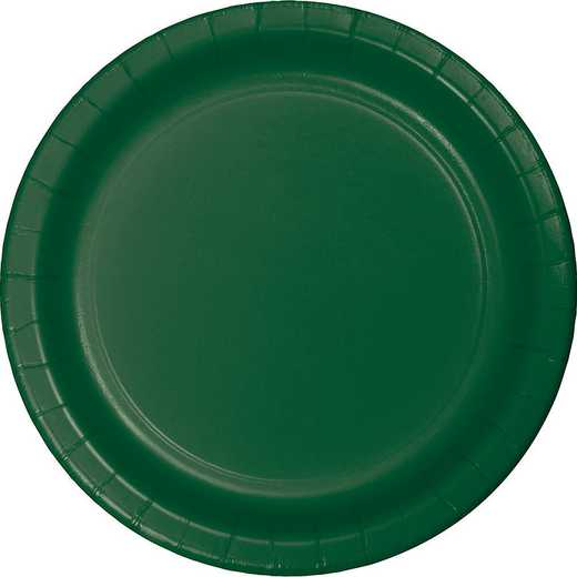 473124B: CC Hunter Green Paper Plates - 24 Count