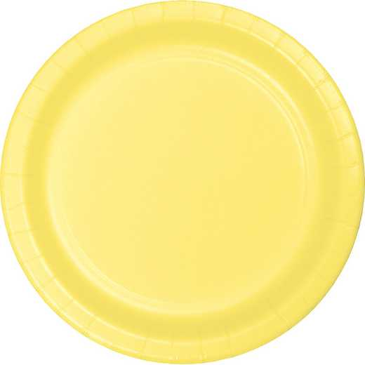 47102B: CC Mimosa Yellow Paper Plates - 24 Count