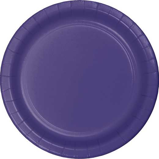 47115B: CC Purple Paper Plates - 24 Count