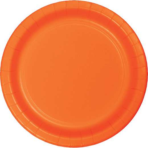 47191B: CC Sunkissed Orange Paper Plates - 24 Count