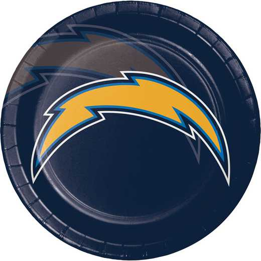 DTC429526DPLT: CC Los Angeles Chargers Paper Plates