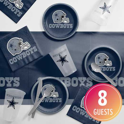 DTC9509C2B: CC Dallas Cowboys Tailgating Kit 8 ct