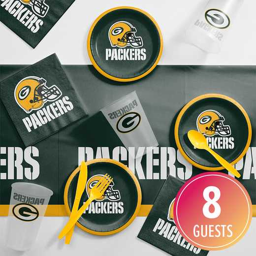 DTC9512C2B: CC Green Bay Packers Tailgating Kit 8 ct