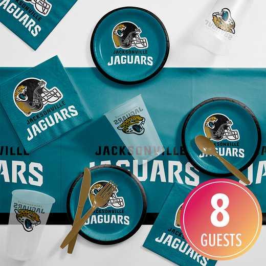 DTC9515C2B: CC Jacksonville Jaguars Tailgating Kit 8 ct