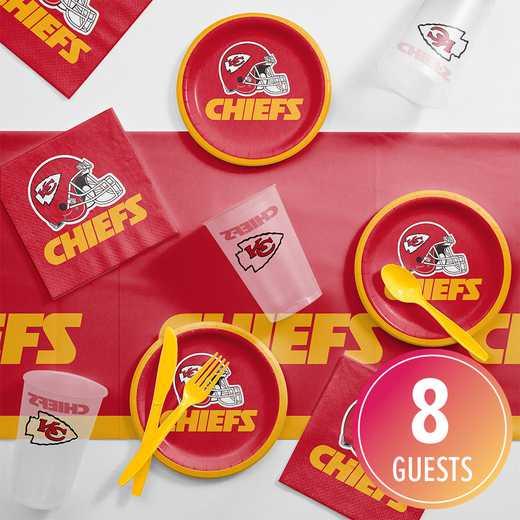 DTC9516C2B: CC Kansas City Chiefs Tailgating Kit 8 ct